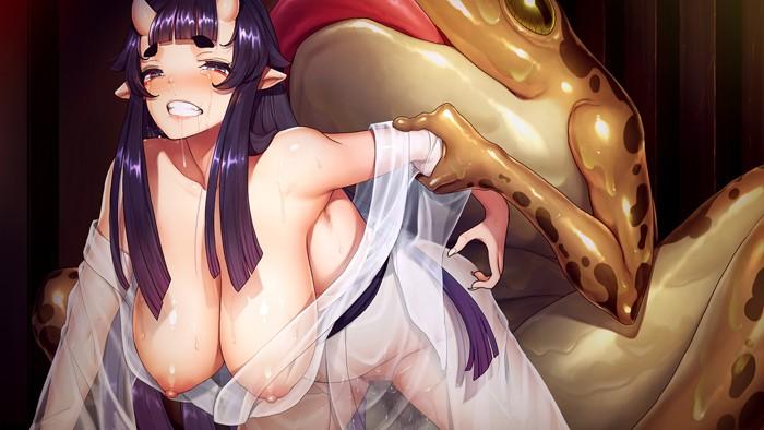 孕み鬼〜鬼畜異形に蹂躙される巨乳鬼娘〜【通常版】のサンプル画像3