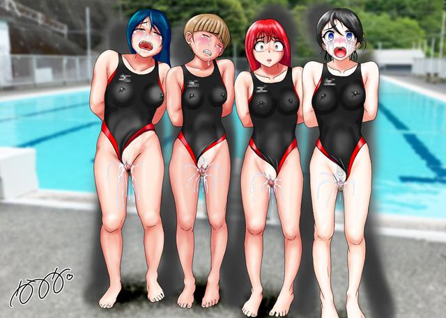 競泳水着集団凌●・穢されたメドレーリレーのサンプル画像1